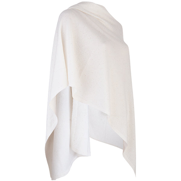 Cashmere Sequin Shawl in White