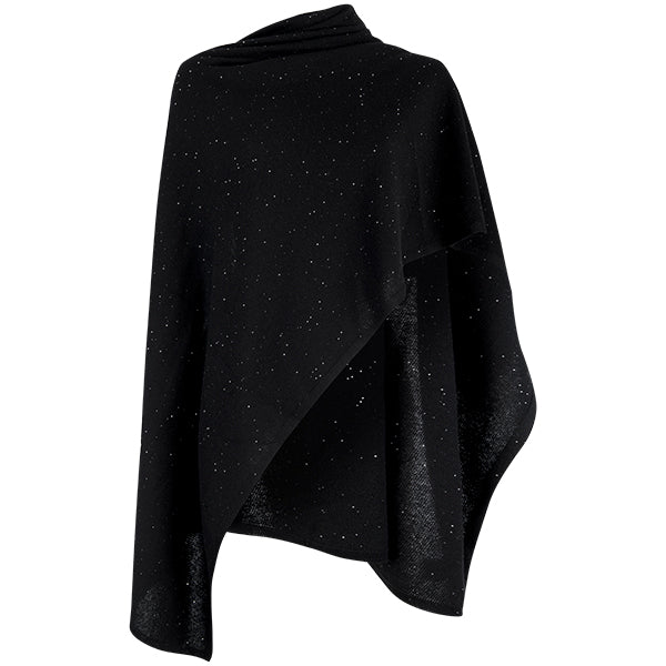 Cashmere Sequin Shawl in Black