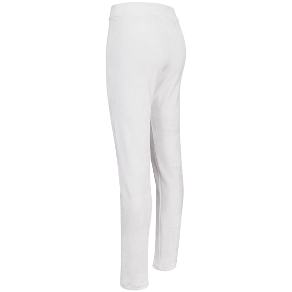Stretch Velvet Pull On Pant in Winter White