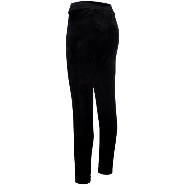 Stretch Velvet Pull On Pant in Black