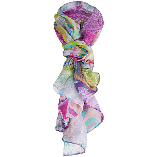 Printed Modal Cashmere Scarf in Moroccan Holiday