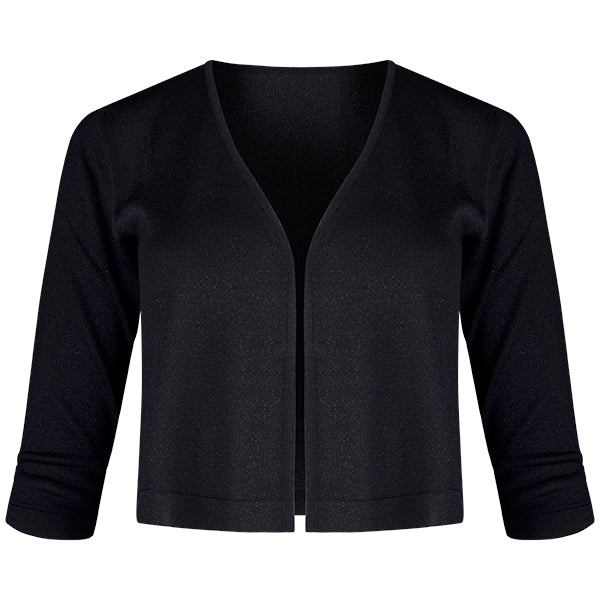 Lurex Acetate Bolero Cardigan in Black
