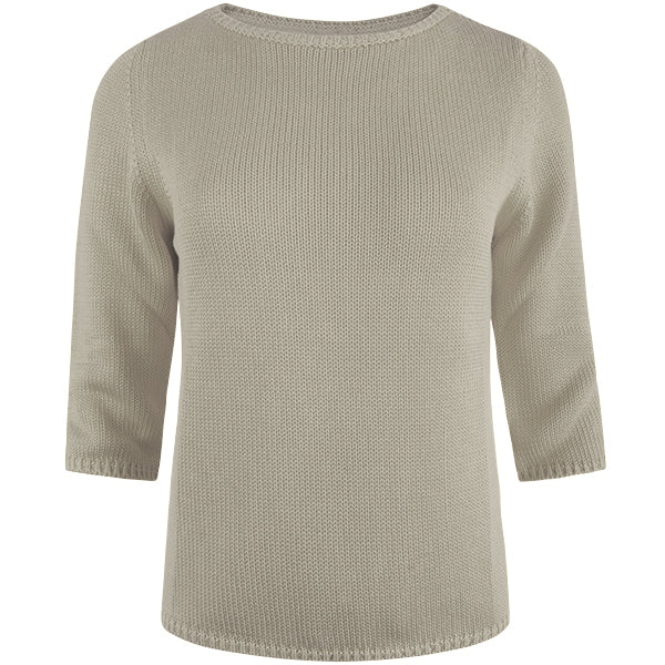 3/4 Sleeve Pullover in Stone