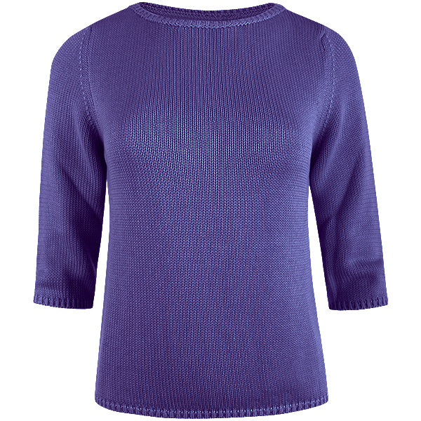 3/4 Sleeve Pullover in Purple