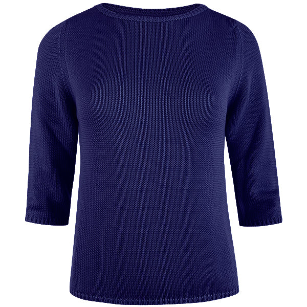 3/4 Sleeve Pullover in Porcelain Blue