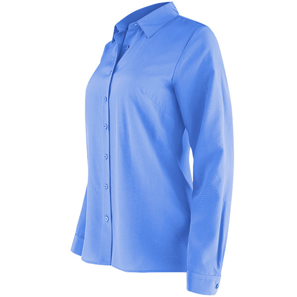 Water Washed Silk Classic Shirt in Celeste