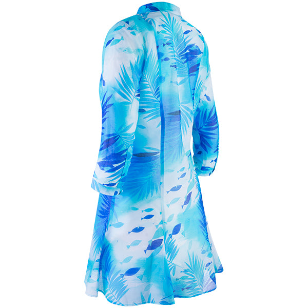 Beach Tunic Dress in Polynesian Waters