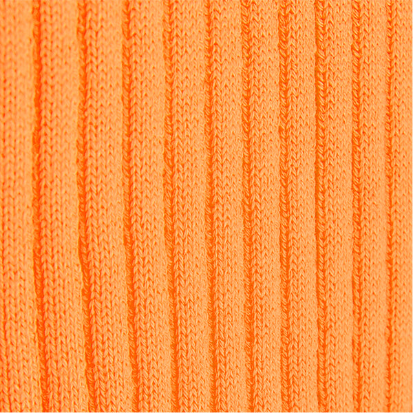 V-Neck Rib Pullover in Mandarino Orange