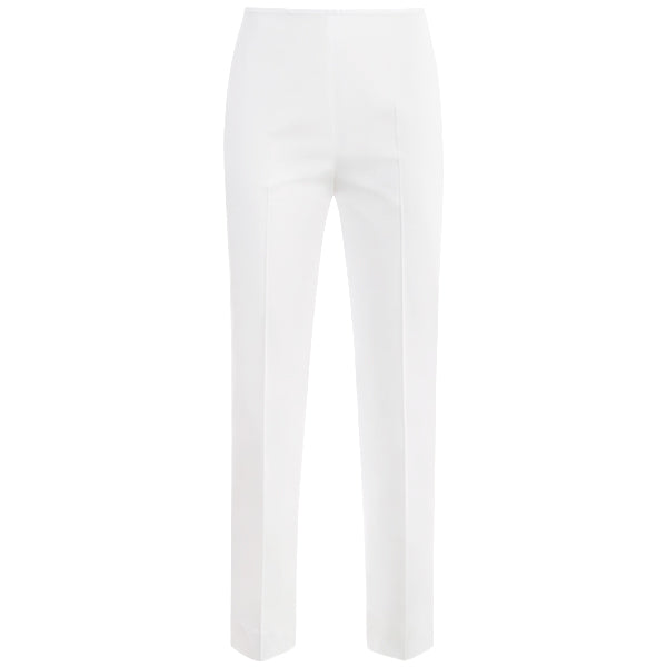 Ladder Stitch Capri in White