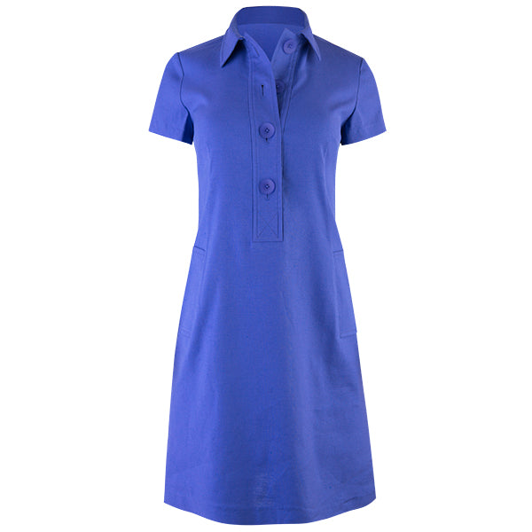 Classic Linen Shirt Dress in Purple