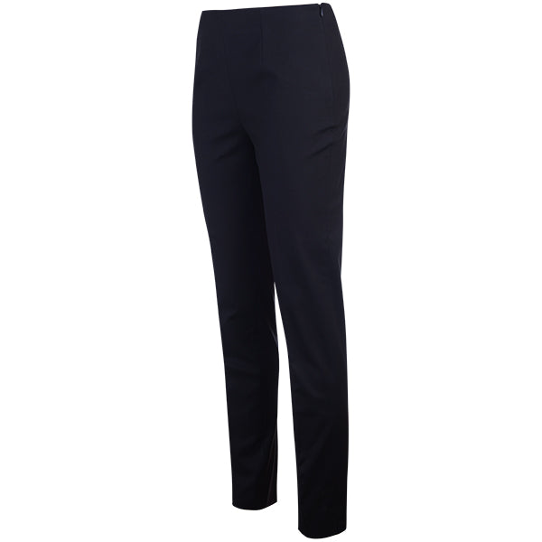Cotton Stretch Slim Fit Pant in Black
