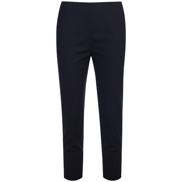 Cotton Stretch Slim Fit Capri in Black