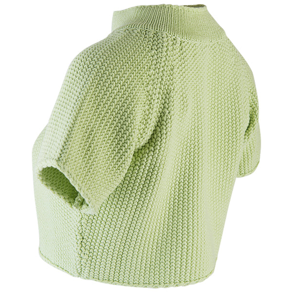 Raglan Sleeve 1-Button Cardigan in Apple Green