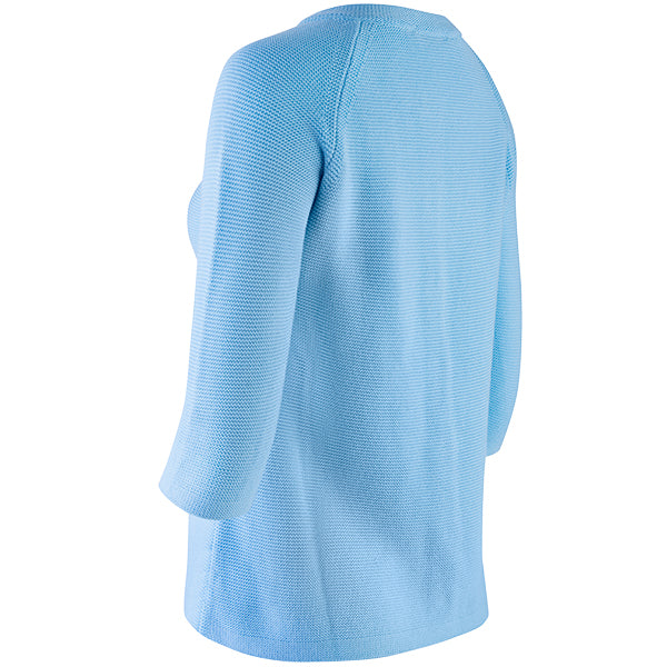 3/4 Raglan Sleeve Big Shirt in Turquoise