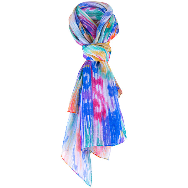 Printed Modal Cashmere Scarf in Indian Splendor