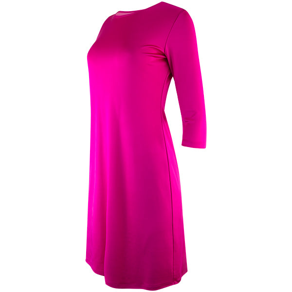 T-Shirt Lione Knit Dress in Fuchsia Pink