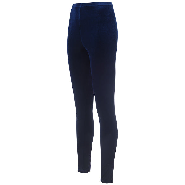 Velvet Leggings in Navy