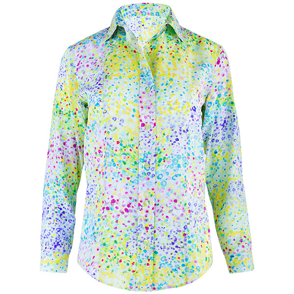 Princess Line Long Sleeve Blouse in Giverny Gardens