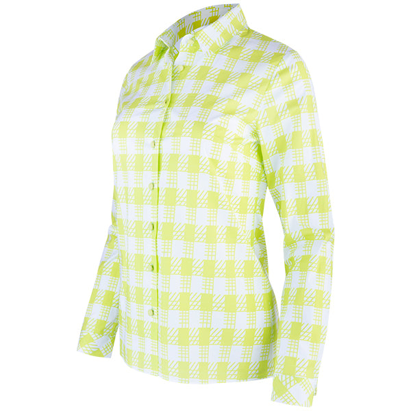 Gingham Check Shirt in Lime