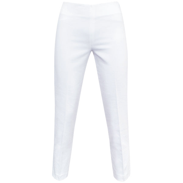 Slim Fit Pique Capri in White