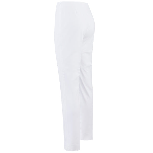 Cotton Stretch Slim Fit Pant in White
