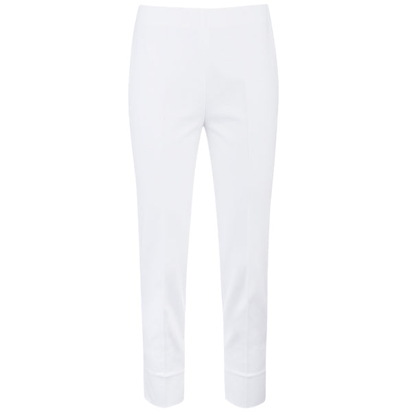 Cotton Stretch Slim Fit Capri in White