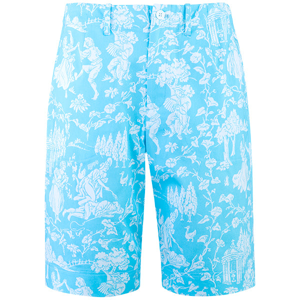 Cotton Stretch Babe Short in Turquoise Provencal
