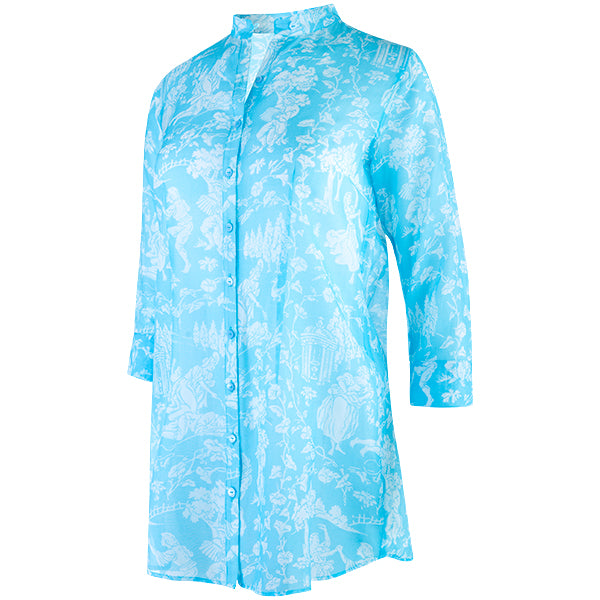 St Martin Tunic in Turquoise Provencal
