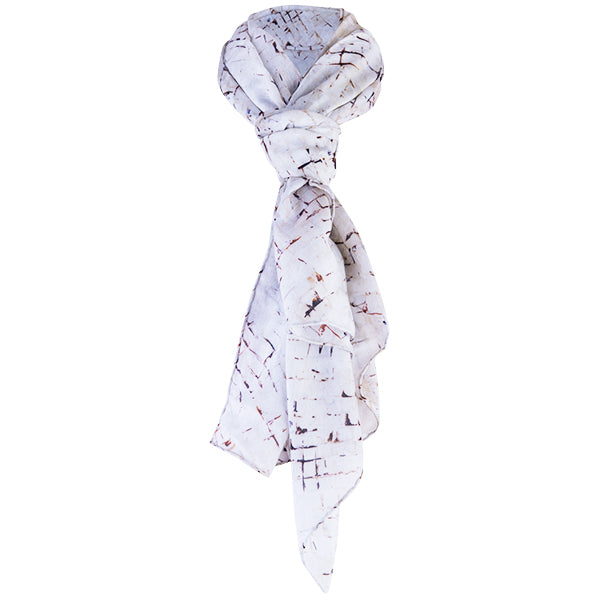 Printed Modal Cashmere Scarf in Mediterranean Tiles