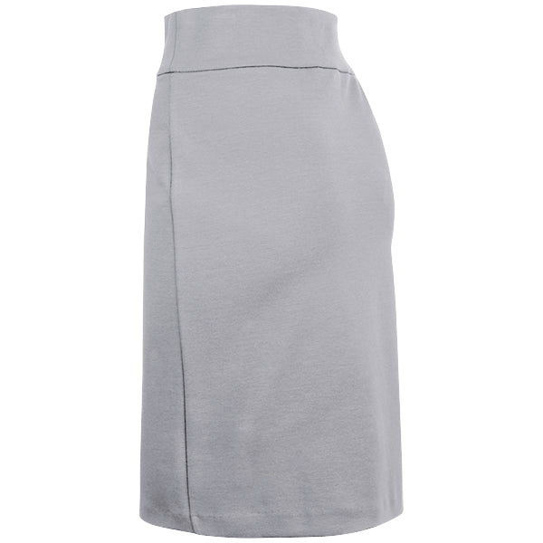 Cotton Knit Pull-on Skirt in Light Grey