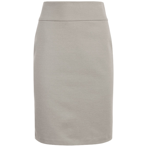 Cotton Knit Pull-on Skirt in Stone