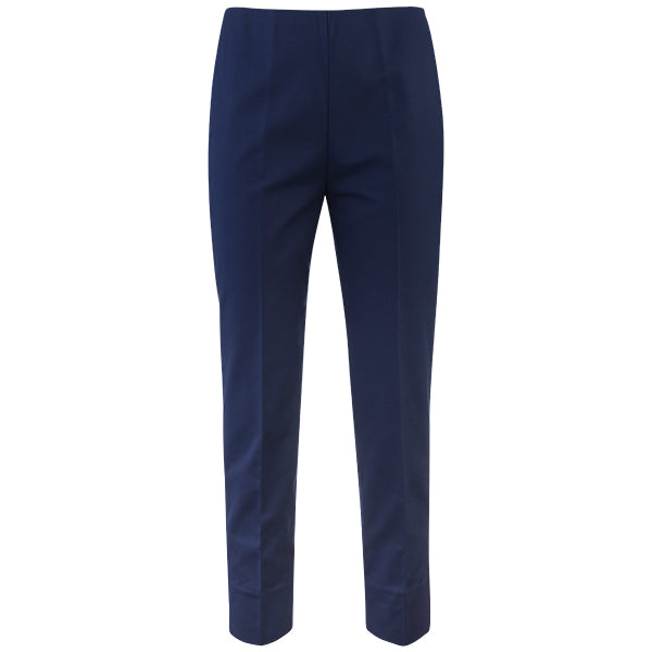 Cotton Stretch Slim Fit Capri in Navy