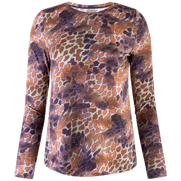 Yoke Relaxed Fit Tee in Sahara Leopard
