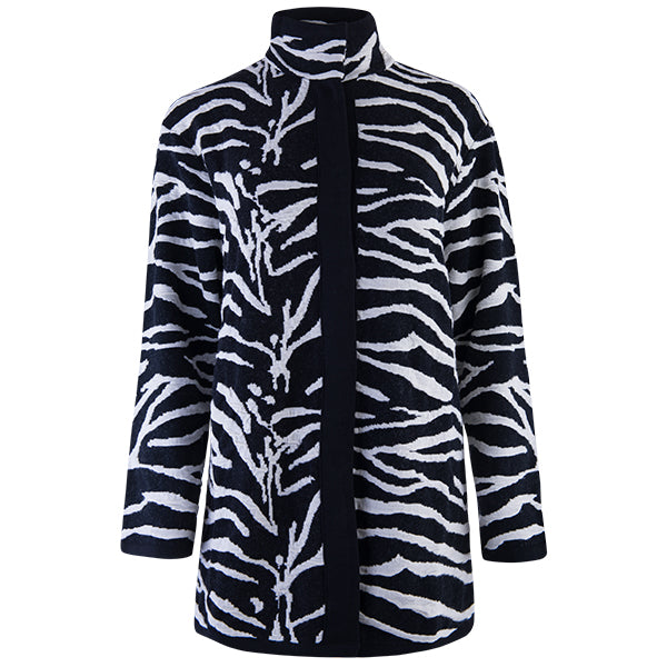 Zebra Knit Coat