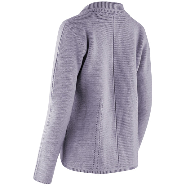 Angular Stitch Blazer Cardigan in Dusty Lavender