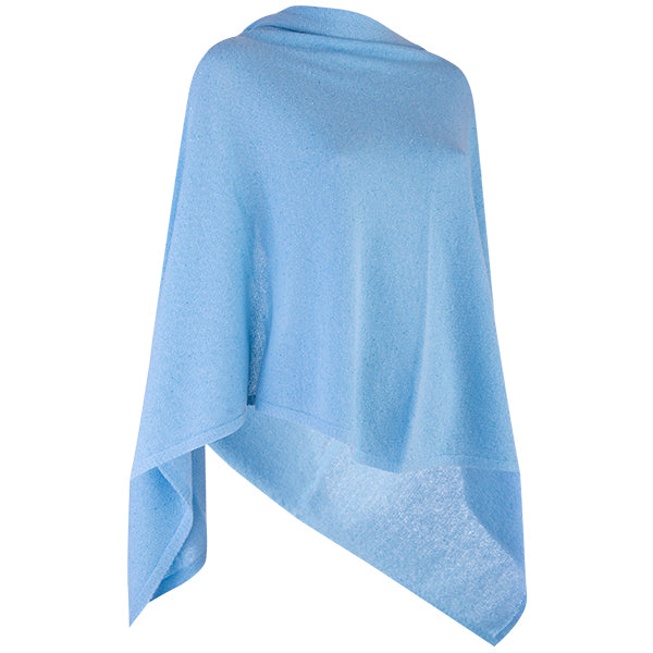 Cashmere Sequin Shawl in Turquoise