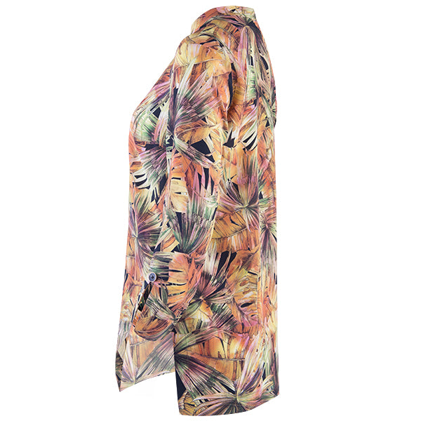 Printed Audrey Tunic in Palm Fans