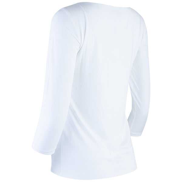 Teresa Tee, 3/4 Sleeve in White