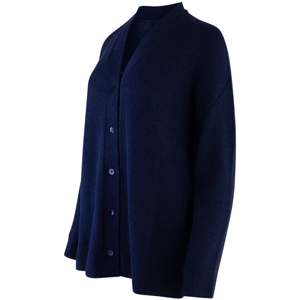 Easy Fit V-Neck Cardigan in Navy
