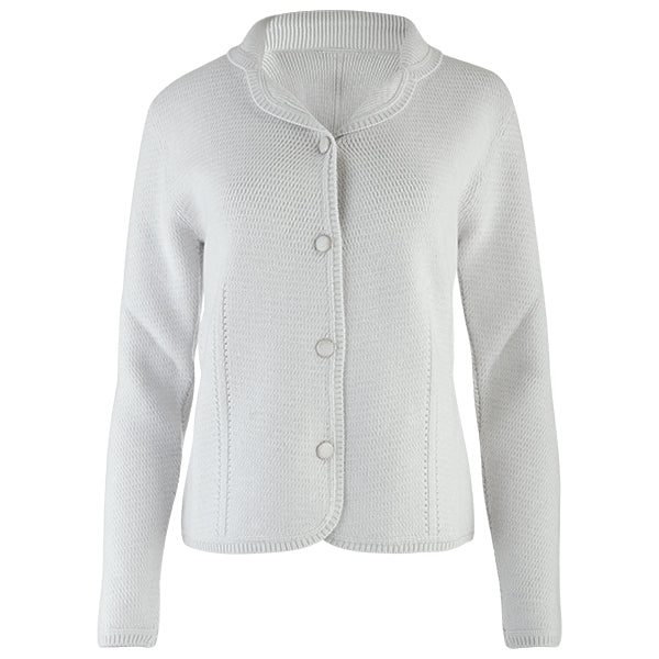 Angular Stitch Blazer Cardigan in Alabaster