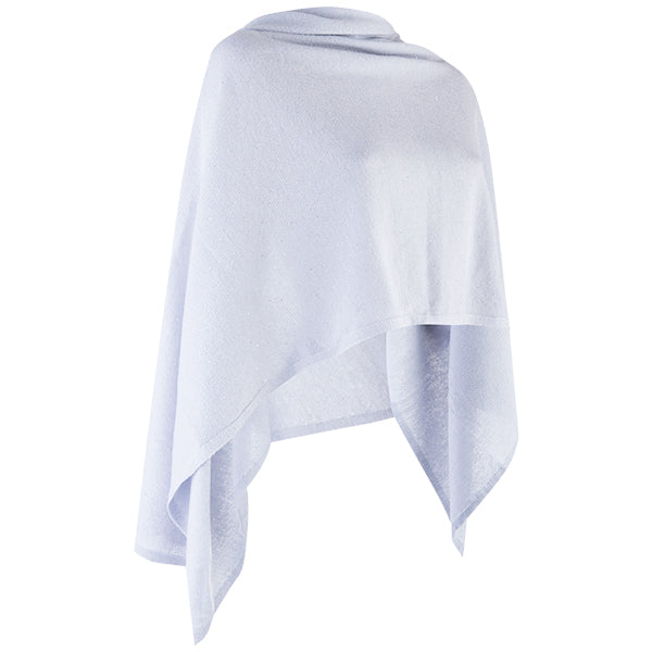 Cashmere Sequin Shawl in Vapor