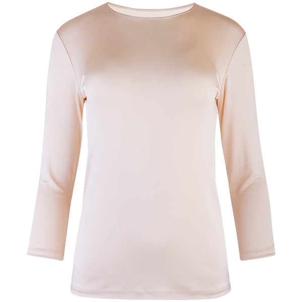 Shaped Knit Tee in Clay