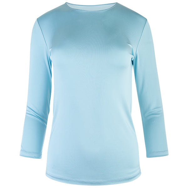 Shaped Knit Tee in Turquoise