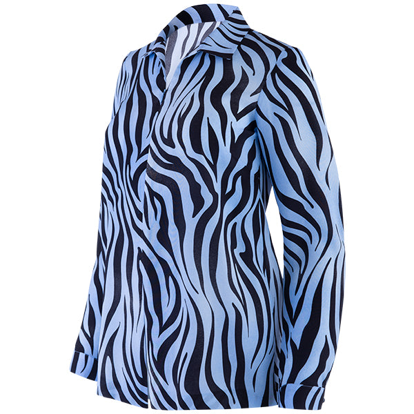 Julia Tunic in Azul/Nero Zebra