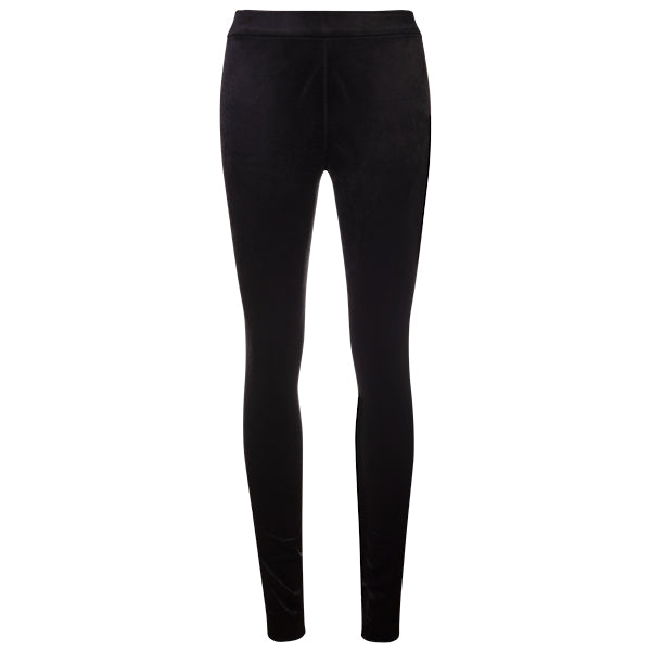 Velvet Scuba Pull on Pant in Black