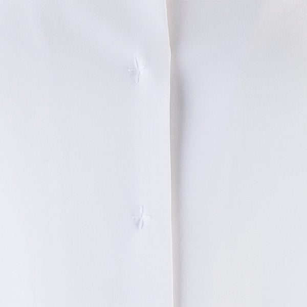 Inverted Notch Collar Tunic in White