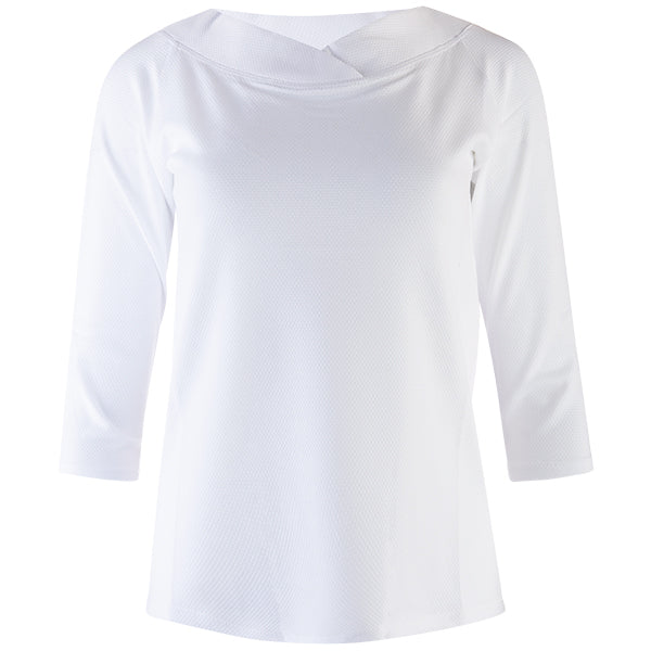 Ballerina Pique Tunic Tee in White