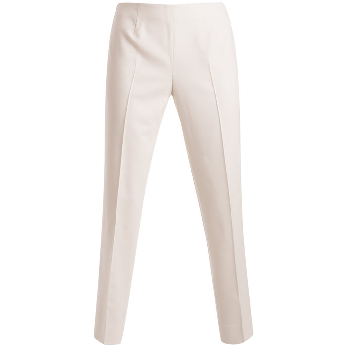 Bi Stretch Short Classic Side Zip Pant in Winter White