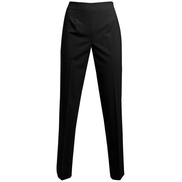 Classic Side Zip L/W Wool Pant in Black