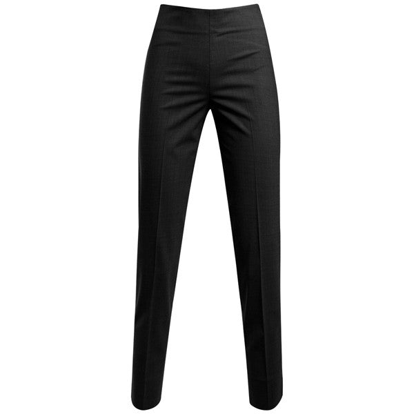 Classic Side Zip L/W Wool Pant in Dark Grey Melange